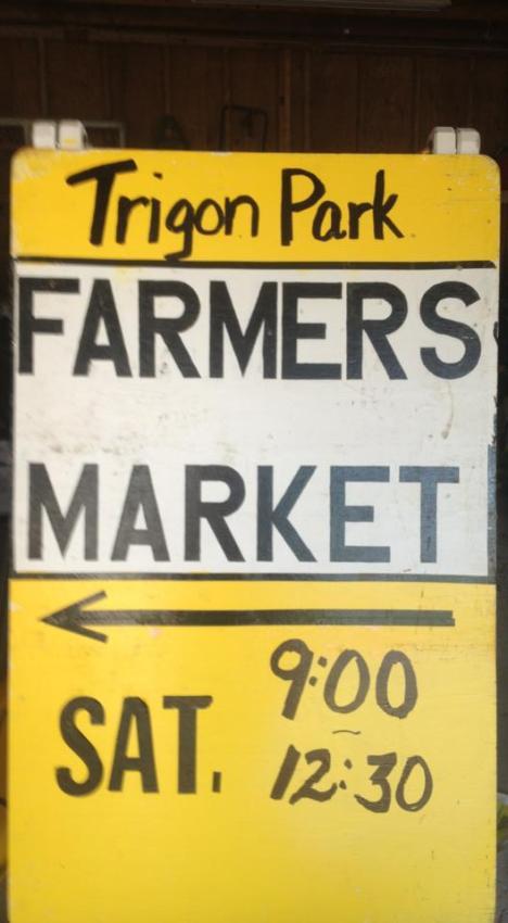 farmer market sign